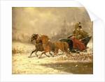 Returning Home in Winter by Charles Ferdinand De La Roche