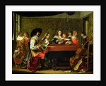 Interior with Musicians and Singers by Laurentius de Neter