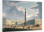 The Alexander Column and the Army Headquarters in St. Petersburg by Louis Jules Arnout