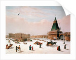 Loubyanska Square in Moscow by Paul Marie Roussel