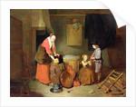 A Kitchen Interior, 17th century by Quiringh Gerritsz. van Brekelenkam
