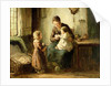 Playing with baby by Adolf-Julius Berg