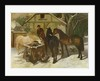 At the Water Trough in Winter by John Frederick Herring Snr
