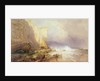 Stormy Weather, Clearing Seaton Cliffs, South Devon by John Mogford