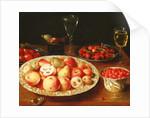 Still Life with Fruit in Wan-Li Porcelain Bowls by Osias the Elder Beert