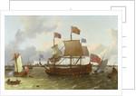 The Three-Master 'Britannia' in Rotterdam by Ludolf Backhuysen
