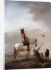 Gentleman on a Horse Watching a Falconer by Philips Wouwermans or Wouwerman