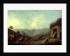 The Village of Betania with a View of the Dead Sea by Luigi Mayer