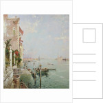 Venice: View from the Zattere with San Giorgio Maggiore in the Distance by Franz Richard Unterberger
