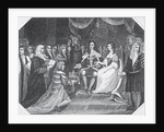 Presentation of the Bill of Rights to William III of Orange and Mary II by English School