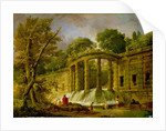 Pavilion with Cascade by Hubert Robert