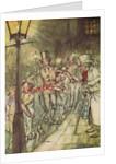 Bob Cratchit went down a slide on Cornhill by Arthur Rackham