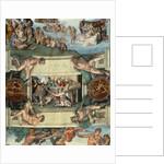 Sistine Chapel Ceiling: The Sacrifice of Noah by Michelangelo Buonarroti