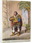 Caricature of Pizarro contemplating the product of his new Peruvian mine by James Gillray