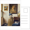 A Young Woman Standing at a Virginal by Jan Vermeer