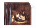 A trompe l'oeil of The Rest on the Flight into Egypt by Abraham de Pape