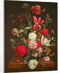 A Still Life of flowers in a glass vase, 17th century by Jacob Rootius