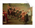 Musicians taking part in The Ommeganck in Brussels on 31st May 1615: Procession of Notre Dame de Sablon by Denys van Alsloot