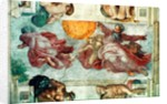 Sistine Chapel Ceiling: Creation of the Sun and Moon by Michelangelo Buonarroti