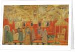 In the Kremlin, scene from the opera 'Boris Godunov' by M. Mussorgsky by Aleksandr Jakovlevic Golovin