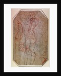 Study of Figures and the Creation of Adam by Michelangelo Buonarroti