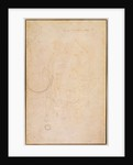 Sketch of a figure with artist's signature by Michelangelo Buonarroti