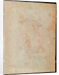 Study of two male figures by Michelangelo Buonarroti