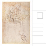 Study for the Ignudi above the Persian Sibyl in the Sistine Chapel by Michelangelo Buonarroti