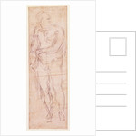 Study for Adam in 'The Expulsion' by Michelangelo Buonarroti