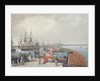 View of Revel, the harbour and the Russian coast artillery by Johann Gau