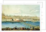 Laying of the Moskvoretsky Bridge in Moscow by Charles de Hampeln