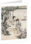 Chinese ladies in a garden by Qing Dynasty Chinese School