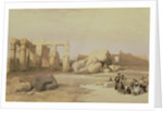 Fragments of the Great Colossus, at the Memnonium, Thebes by David Roberts