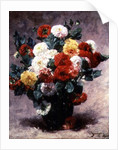 Carnations in a vase by Georges Jeannin