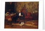 Louis Signorino seated in his study by Gustave Bourgain