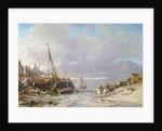 Port en Bretagne by Louis Eugene Gabriel Isabey