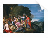 Athene and the Nine Muses at the Wells of Hipokrene by Johann or Hans Konig
