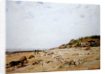 The Beach at Villerville by Eugene Bourgeois
