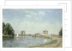 At the River's Edge by Camille Pissarro