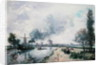 Dutch Landscape with Windmills by Johan-Barthold Jongkind