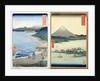 Mountains and coastline by Ando or Utagawa Hiroshige