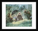 Detail of a Gentleman reading in a garden by Carl Spitzweg