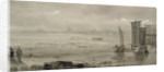 Seashore Study: Low Tide, with Fishing Boats and Fisherfolk by William Collins