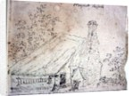 Cottage at East Bergholt, with a cottager by John Constable