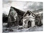 Porch and Transept of a Church by John Constable