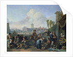 A View in Rome by Johannes Lingelbach