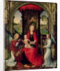 Madonna and Child with two Angels by Hans Memling