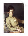 Portrait of a young woman by Charles Wellington Furse