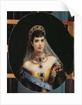 Portrait of Empress Maria Fyodorovna Dagmar of Denmark by Konstantin Egorovich Makovsky