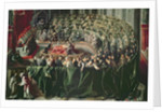 Trial of Galileo by Italian School